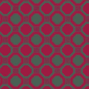 Romantic Rebel Octagonal Fabric Red - Bohemian