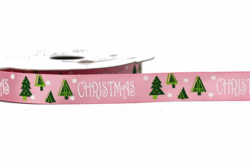 Prairie Christmas Ribbon Pink