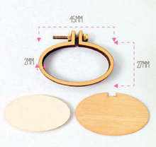 Load image into Gallery viewer, Mini Hoop Jewellery Small Horiz Brooch