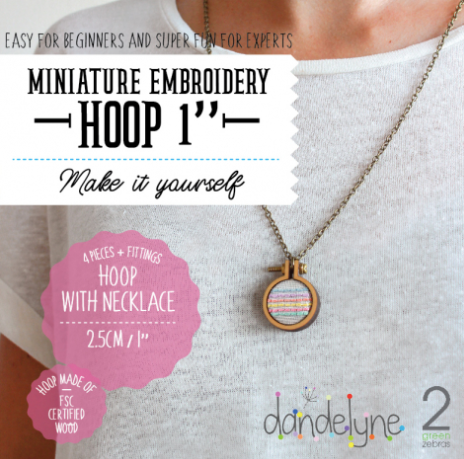 Mini Hoop Jewellery Necklace 2.5cm
