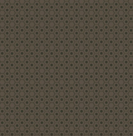 Dark Brown Honeycombs Fabric