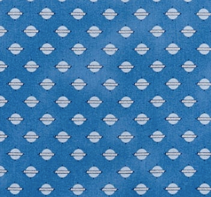 Temperance Medium Blue Geo Fabric