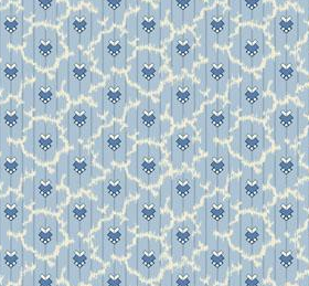Temperance Light Blue Foulard Fabric