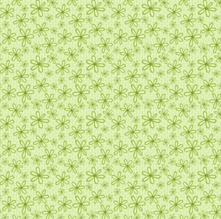 Green Daisies Fabric