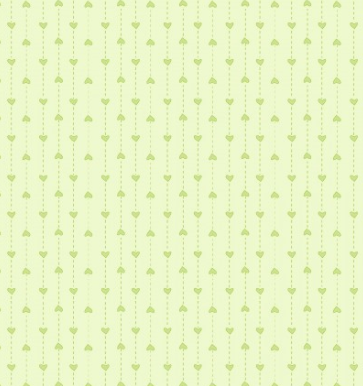 Hearts In Light Green Fabric