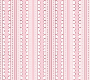Scallop Stripes Pink Fabric