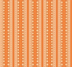 Scallop Stripes In Orange Fabric