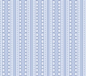 Scallop Stripes In Blue Fabric