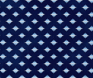 Temperance Blue Geo/Natural Fabric