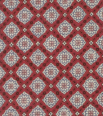 Combay Indian Red Fabric