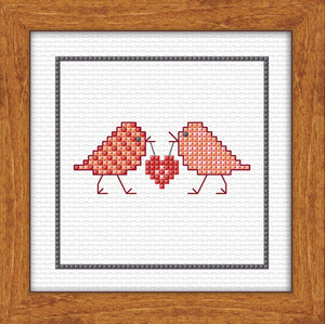 Xmas Love Birds Kit Set 10x10cm