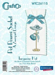 Turquoise Hat Cross Stitch Kit