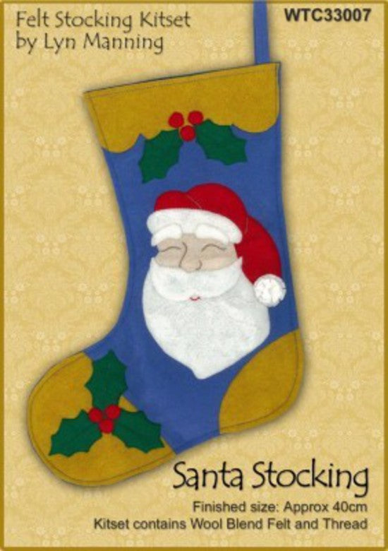 Santa Felt Stocking Kitset