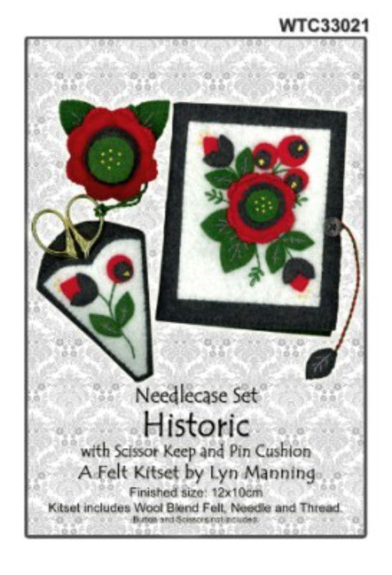 Felt Needlecase Set Historic