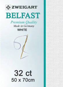 Belfast Fat Q 32ct White