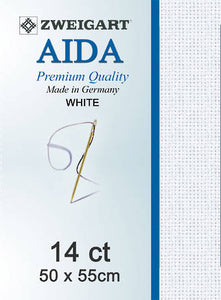 Adia Fat Quarter 14 Count White
