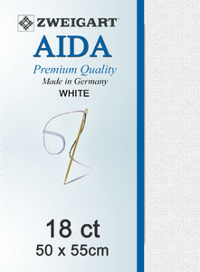 Aida Fat Q 18ct White