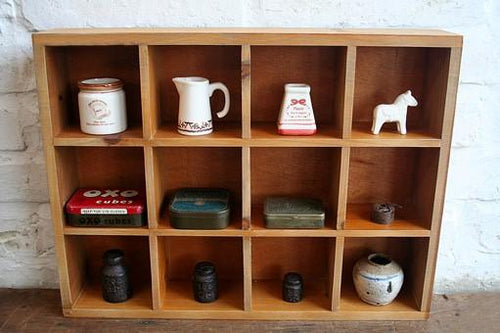 Rustic Shadow Wooden Box Shelf