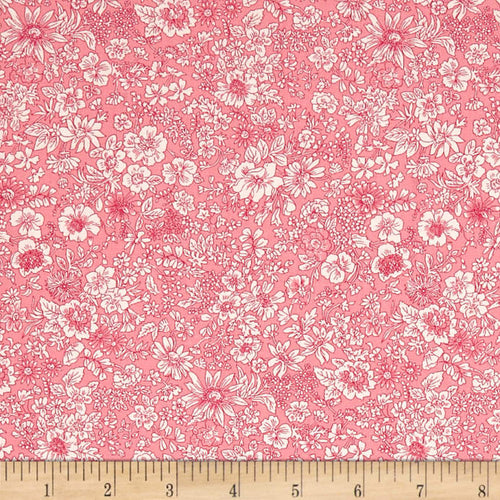 Liberty Emily Silhouette Pink Fabric