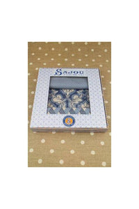 Fabric Gift Box 3 Swatches Damas Blue