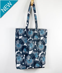 Poppy Charcoal Tote Bag