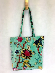 Tote Bag Tree Of Like Pale Aqua