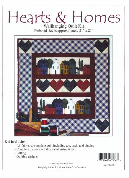 Hearts & Home Wallhanging Quilt kit
