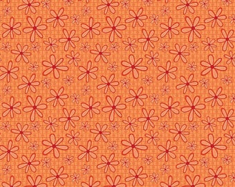 Orange Daisies Fabric
