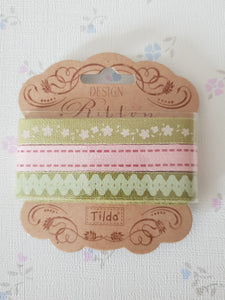 Pink Moss Green Tilda Ribbon