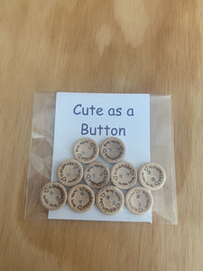 Handmade Buttons 15 MM