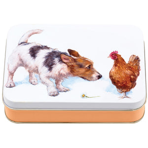 Small Rectangle Dog Tin