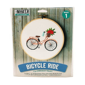Mini Maker - Bicycle Embroidery Kit