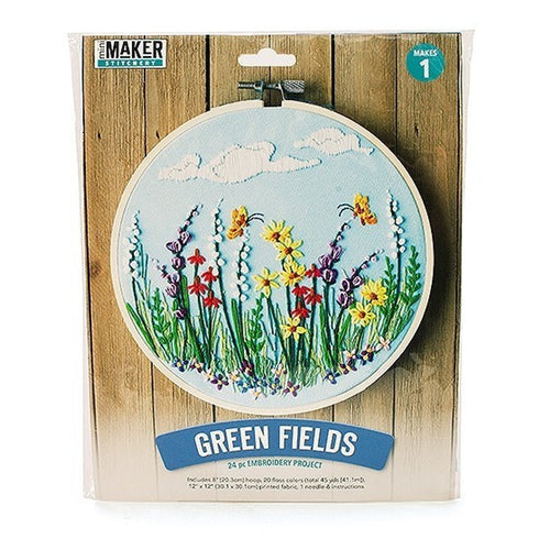 Mini Maker - Green Fields Embroidery Kit