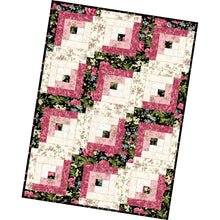 Load image into Gallery viewer, Poppies - 12 Block Log Cabin Quilt Kit