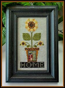 Home is Where the Sunflowers Grow Cross Stitch Pattern