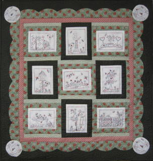 Through The Garden Gate Stitchery Pattern