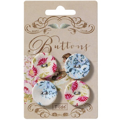 Painting Flowers Buttons - 25mm
