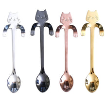 Load image into Gallery viewer, Cute Mini Stainless Steel Kitty Cat Coffee Spoon