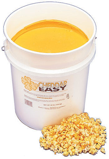 Cheddar Easy Cheese, 30 lb., Popcorn Supplies, Cromers Pnuts, LLC - Cromers Pnuts, LLC