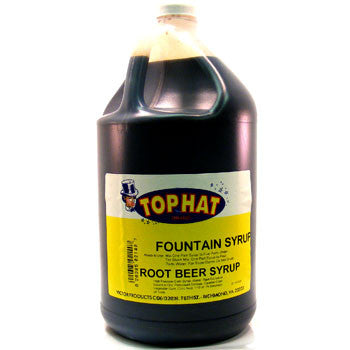 TOP HAT Root Beer Snow Cone Syrup - gal. - $11.95, Snow Cone Supplies, Cromers Pnuts, LLC - Cromers Pnuts, LLC