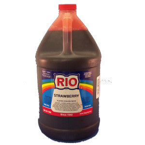 Rio Strawberry Snow Cone Syrup - gal. - $40.95, Snow Cone Supplies, Cromers Pnuts, LLC - Cromers Pnuts, LLC