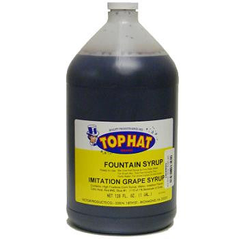 TOP HAT Grape Snow Cone Syrup - gal. - $11.95