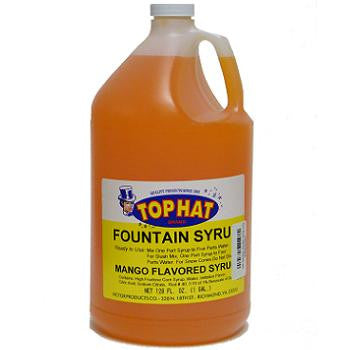 TOP HAT Mango Snow Cone Syrup - gal. - $11.95