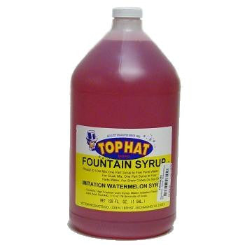 TOP HAT Watermelon Snow Cone Syrup - gal. - $11.95