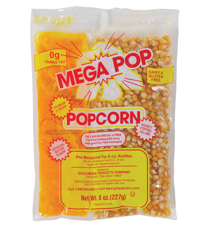 "8 oz. Naks Paks Mega Pop Coconut Oil CS/24 â€"" $25.95, Popcorn Supplies, Cromers Pnuts, LLC - Cromers Pnuts, LLC"
