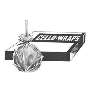 Cellophane Apple Wrap 16'x16', 1000, Candy Apple Supplies, Cromers Pnuts, LLC - Cromers Pnuts, LLC