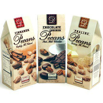 Chocolate Pecans, 5 oz. Gift Box - $6.95, Candied Nuts, Cromers Pnuts, LLC - Cromers Pnuts, LLC