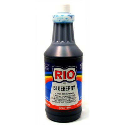 RIO Blueberry Snow Cone Syrup, 32 oz. - $16.95, Snow Cone Supplies, Cromers Pnuts, LLC - Cromers Pnuts, LLC