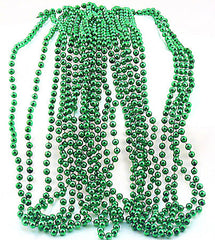 Green Beads Metallic Bulk