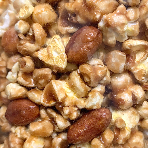 Caramel Corn with Peanuts